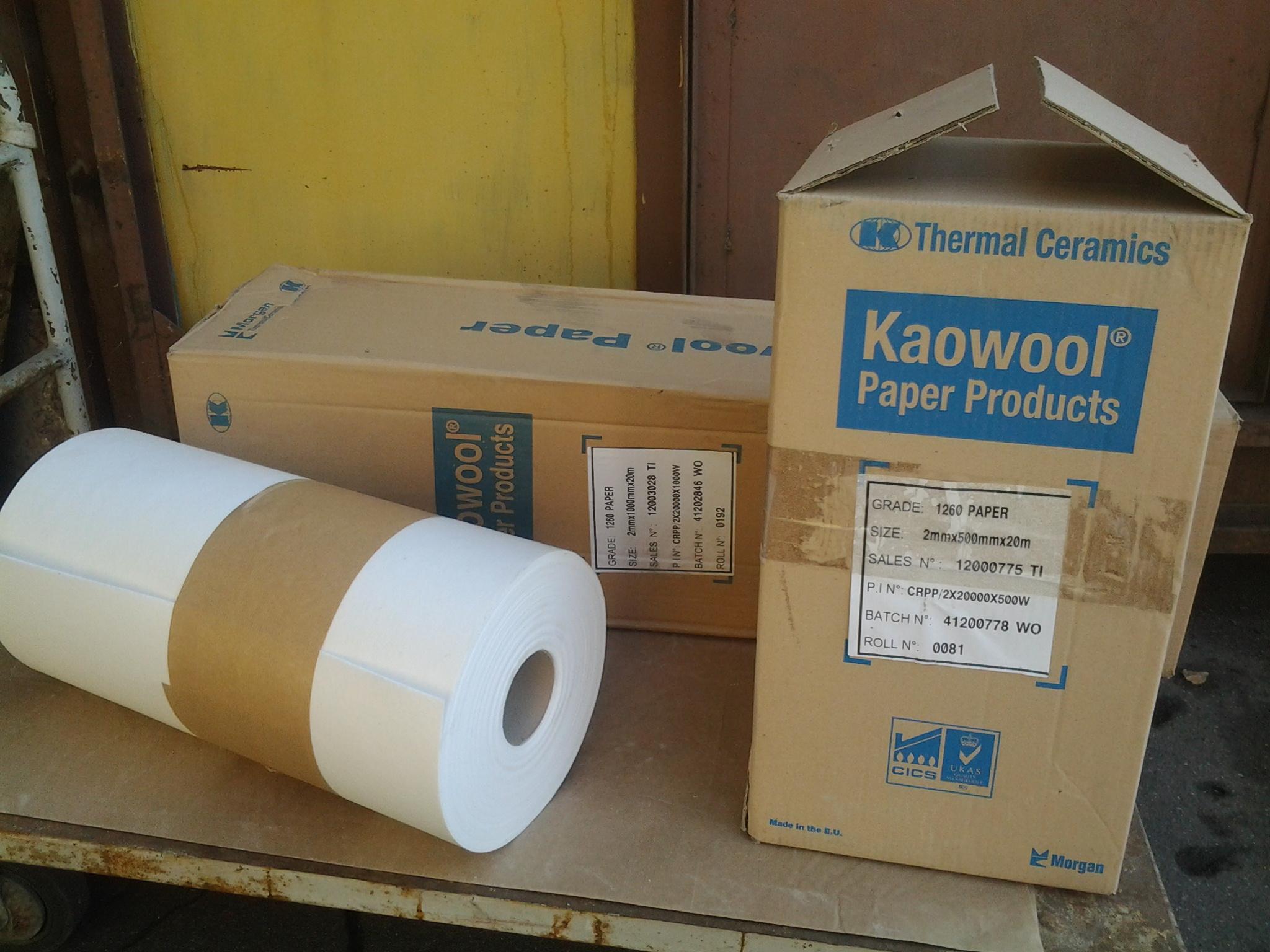 Огнеупорная бумага из керамического волокна Kaowool 1260 Paper